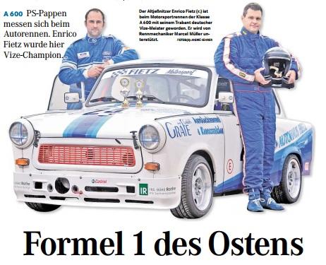 Vizemeister 2013 Trabant Racing